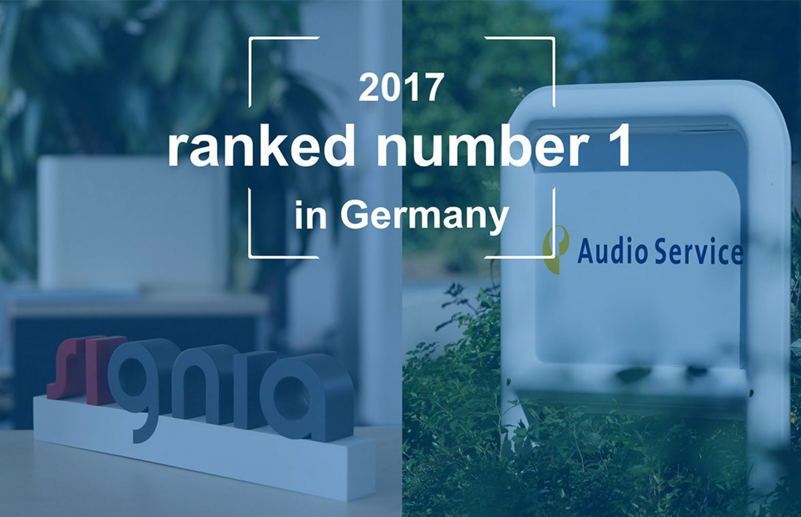 Audioservice ranked number 1