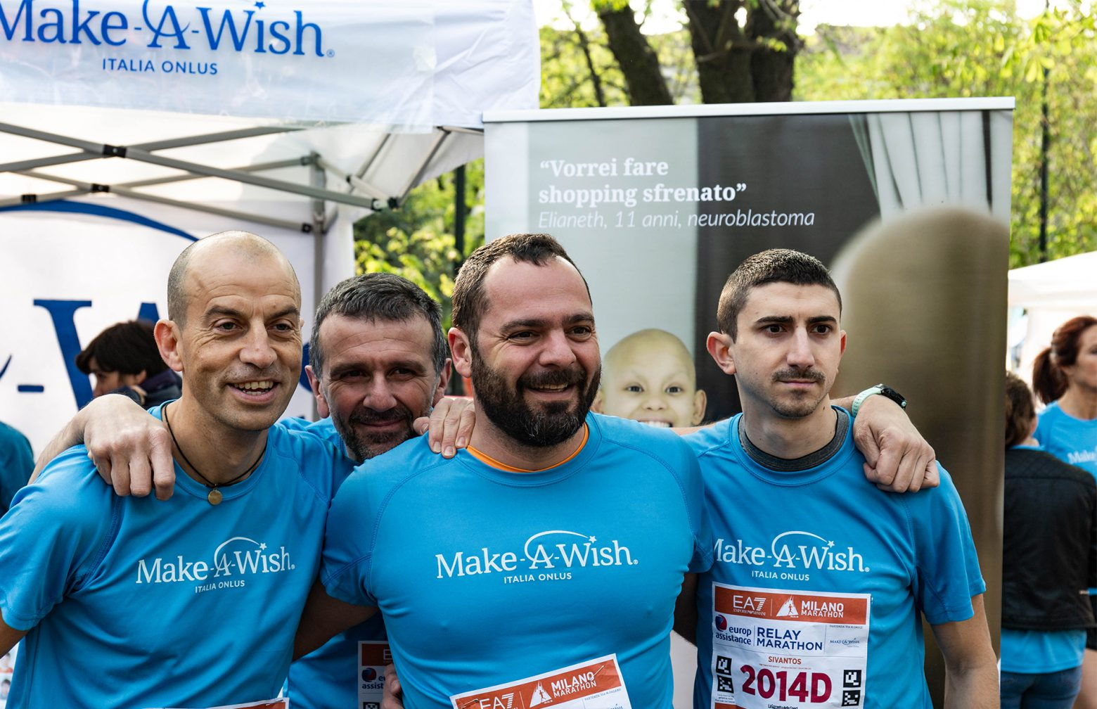 Four Sivantos co-workers from Italy at the Milan Maraton