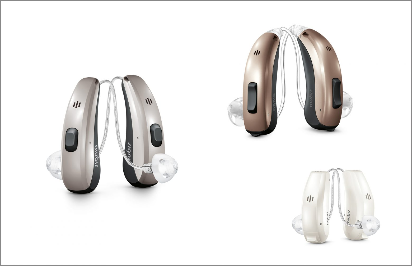 Three Pairs of Signia hearing aids