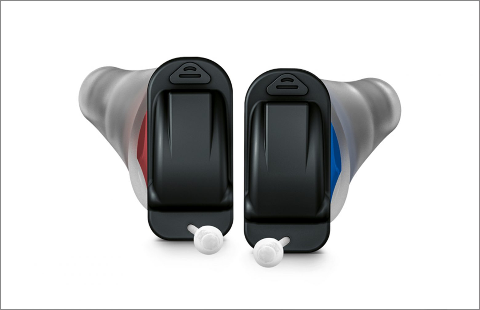 Pair of Signia Click-CIC hearing aids