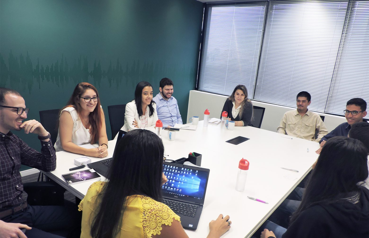 brazilian trainees during a meeting